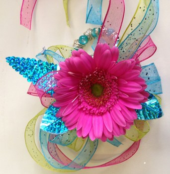 Neon Corsage Prom - Shirley's Flowers & Gifts, Inc., in Rogers, Ark.