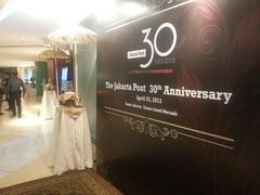 the Jakarta Post 30th anniversary