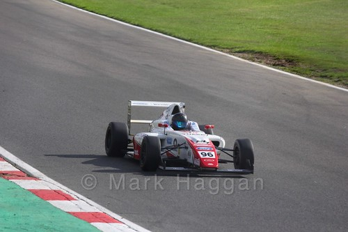 Jack Butel in British F4 during the BTCC Brands Hatch Finale Weekend October 2016