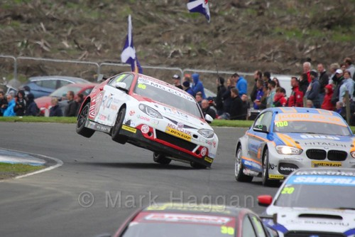 Josh Cook in BTCC race one at Knockhill Weekend 2016