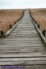 Boardwalk on Dungeness Beach