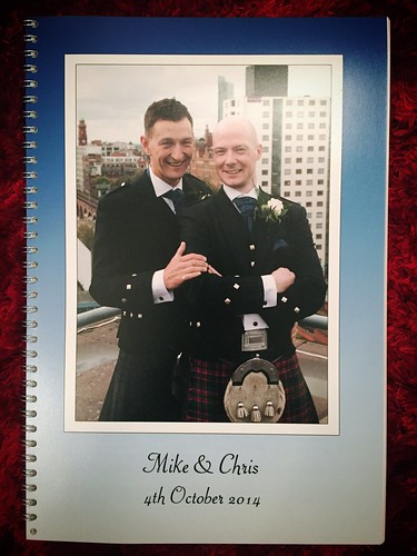 Today is all about...getting our wedding proofs album