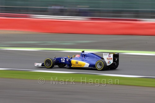 Felipe Nasr in his Sauber in qualifying at the 2016 British Grand Prix