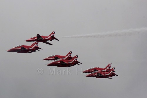 The Red Arrows at the 2016 British Grand Prix
