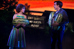 """Jillian Mueller (Baby) and Doug Carpenter (Billy) in the Broadway Sacramento presentation of """"Dirty Dancing – The Classic Story On"""" Stage at the Sacramento Community Center Theater Dec. 26, 2014 – Jan. 4, 2015. Photo by Matthew Murphy."""