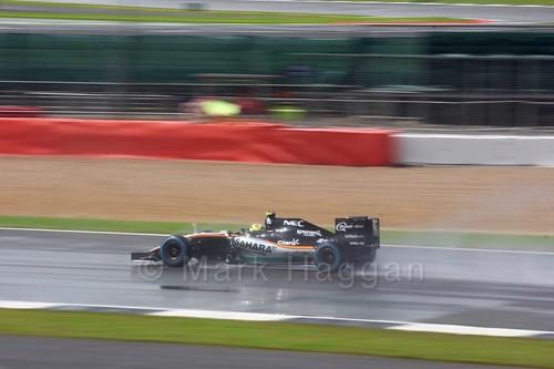 Sergio Perez during the 2016 British Grand Prix