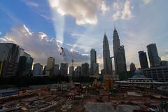 Late evening at Kuala Lumpur.