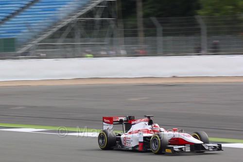 Nobuharu Matsushita in his ART GP car in GP2 Qualifying at the 2016 British Grand Prix