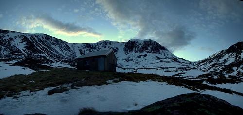 Huchinson Hut as Night Draws in
