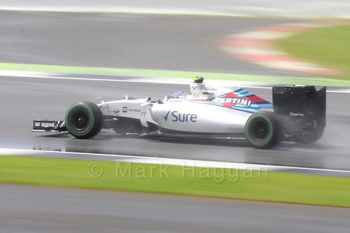 Valtteri Bottas in his Williams during the 2016 British Grand Prix