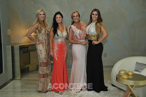 Com Alexia Nascimento, Lurdinha Costanza e Raquel Lisboa e