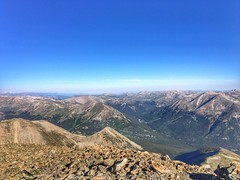 View from La Plata Peak summit to the northwest.