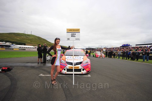Jake Hill on the grid during the BTCC Knockhill Weekend 2016