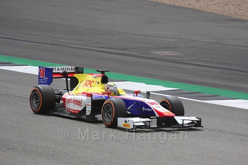 Philo Paz Armand in his Trident in GP2 Practice at the 2016 British Grand Prix