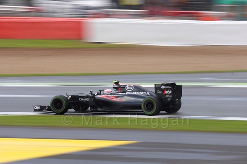 Jenson Button in his McLaren during the 2016 British Grand Prix