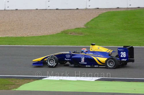 Santino Ferrucci in the DAMS car in qualifying for GP3 at the 2016 British Grand Prix
