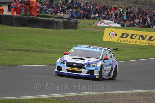 James Cole in race one during the BTCC weekend at Knockhill, August 2016