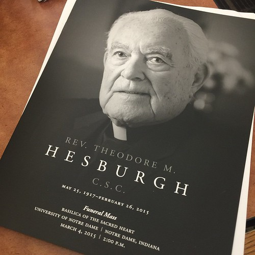 The program for tomorrow's funeral Mass for Fr. Ted