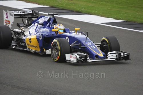 Marcus Ericsson in his Sauber in Free Practice 1 at the 2016 British Grand Prix