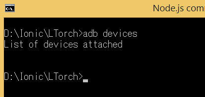 adb devices could not detect devices
