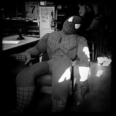 Bored spiderman