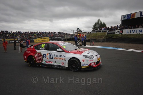 Josh Cook on the grid during the BTCC Knockhill Weekend 2016