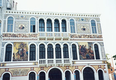 1998 05 18 Venice Mosaic on Palazzo Barbarigo on the Grand Canal