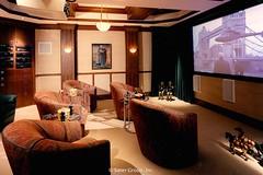 Custom Modern Home Media Room