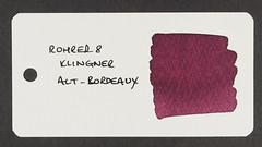 Rohrer & Klingner Alt-Bordeaux - Word Card