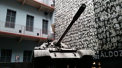 Terror Haz Soviet tank and towering wall of victims