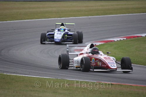 Patrik Matthiesen in British Formula 4 during the BTCC 2016 Weekend at Snetterton