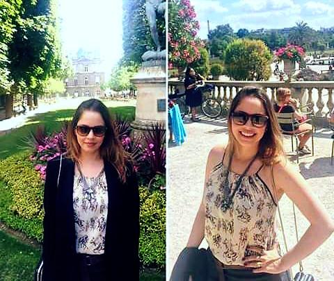 Rafaela veste Animale em viagem à França