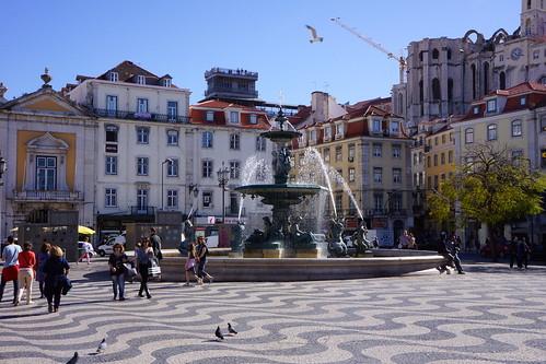 Lisbonne - Praça Dom Pedro IV