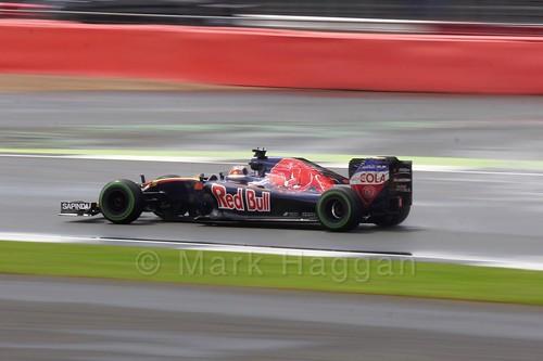 Daniil Kvyat in his Toro Rosso in the 2016 British Grand Prix at Silverstone