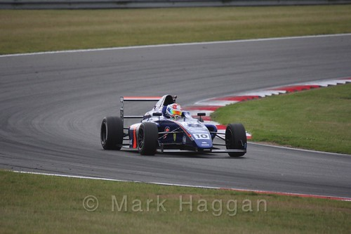 Petru Florescu in British Formula 4 during the BTCC 2016 Weekend at Snetterton