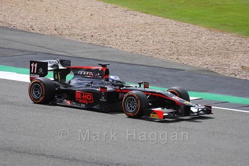 Gustav Malja in the Rapax car in GP2 Practice at the 2016 British Grand Prix