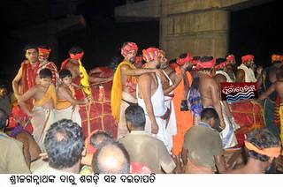 daitapati sevak of lord jagananth with daru sagadi