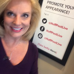 In the green room at Huff Post Live. @huffpostlive