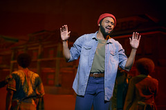 """Jarran Muse (Marvin Gaye) in the Broadway Sacramento presentation of """"Motown The Musical"""" at the Sacramento Community Center Theater May 18 – 29, 2016. Photo by Joan Marcus."""