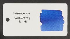 Waterman Serenity Blue - Word Card