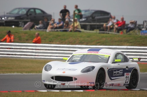 Tom Gamble in Ginetta Junior Racing during the BTCC 2016 Weekend at Snetterton