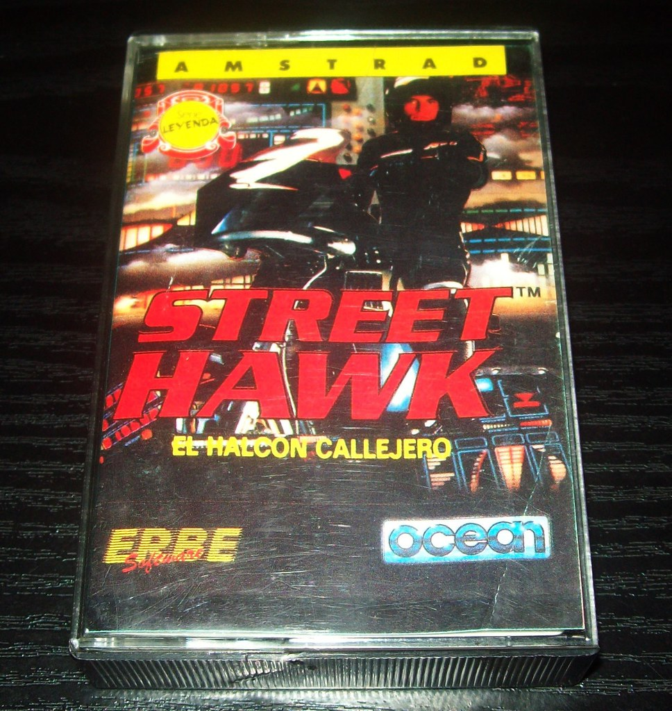 hight resolution of 15 amstrad erbe street hawk by ocean 1988 cassette serie leyenda
