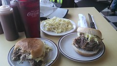 Slaw and BBQ in Fredericksburg, VA.