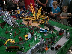 BrisBricks' train layout at Brisbane model train show, 9-10 May 2015