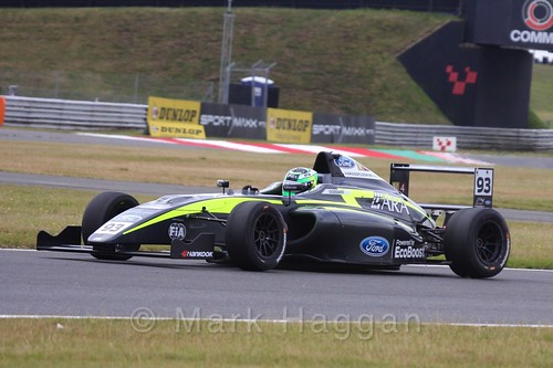 Zane Goddard in British Formula 4 during the BTCC 2016 Weekend at Snetterton