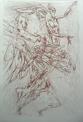 Angelo o delicate ingiunzioni-ceramolle e acquaforte 2015