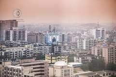Views over city of Guangzhou, China.
