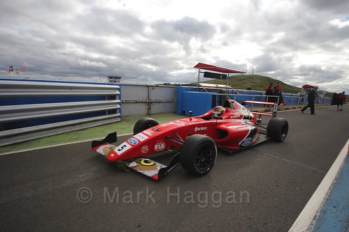 Frank Bird in the final British Formula Four race during the BTCC Knockhill Weekend 2016