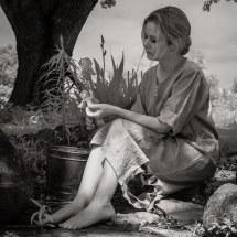 Barefoot Woman Poor