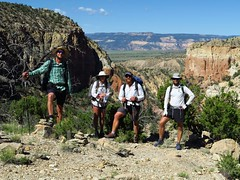Hiking out of Ghost Ranch
